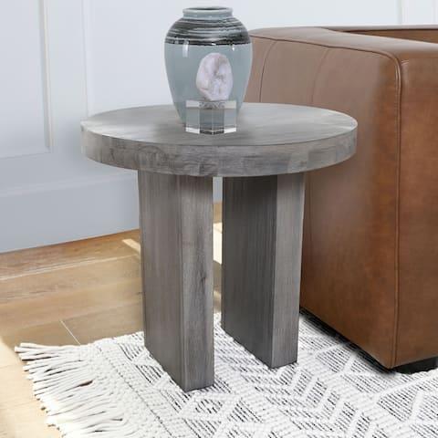Abbyson Felix Round End Table