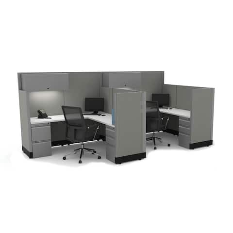 Modern Office Furniture 53-67H 2pack Powered