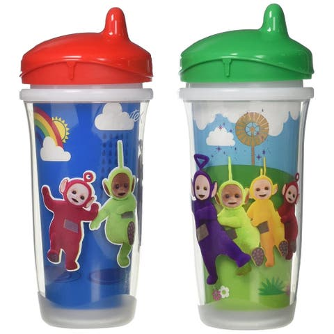 Playtex Teletubbies Sipsters, Stage 3, 12M+, 9 Oz, Red and Green, 2 Cups