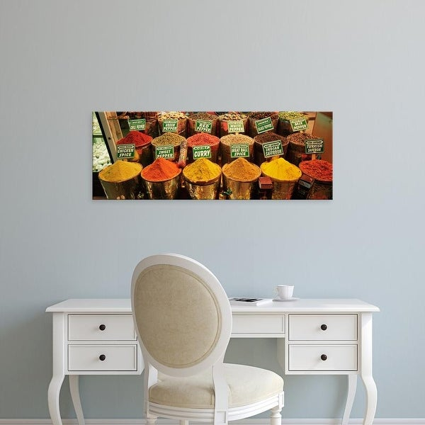 Easy Art Prints Panoramic Images's 'Spice Market Istanbul Turkey' Premium Canvas Art