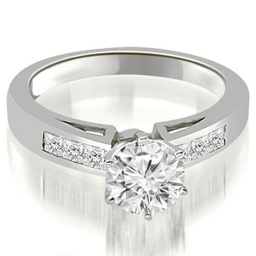 1.30 cttw. 14K White Gold Channel Set Princess Cut Diamond Engagement Ring