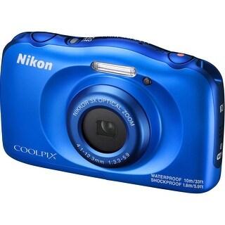 Nikon COOLPIX W100 Digital Camera (Blue) (International Model)