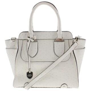 London Fog Womens Satchel Handbag Faux Leather - MEDIUM