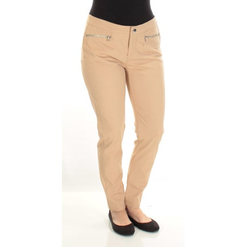 Womens Gold Casual Skinny Pants Size 8