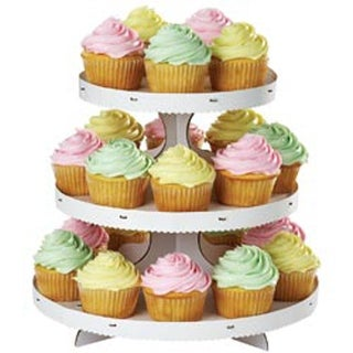 "White 12""X10.5"" Holds 24 Cupcakes - Cupcake Stand"