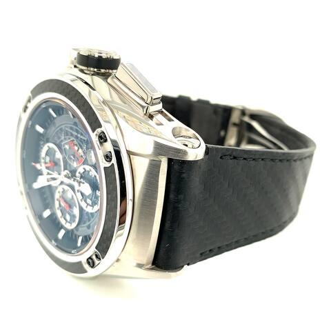 Cvstos Men's 11016CHR50ACCA1 'Challenge-R 50' Black Skeleton Dial Rubber Strap 2 Day Power Reserve Carbon Fiber Automatic Watch