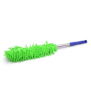 Green Chenille Extendable Handle Auto Car Duster Dust Brush Cleaning Tool