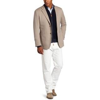 Scott James Rey Mens Blazer 44 Regular 44R X-Large XL 2 Buttons Grey Knit