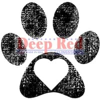 "Deep Red Cling Stamp 2""X2""-Pawprint"