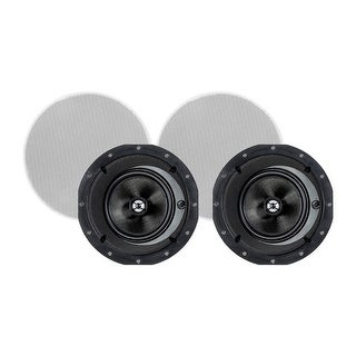 Monoprice in-Ceiling Speakers 6.5 Inch Carbon Fiber 2-Way with 15 Angled Drivers (pair) - Alpha Series