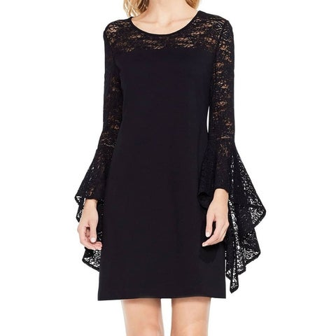 Vince Camuto Women's Floral Lace Bell Sleeve Sheath Dress
