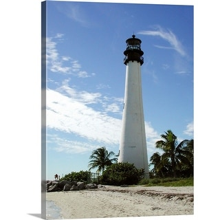 """Lighthouse, Cape Florida state park"" Canvas Wall Art"