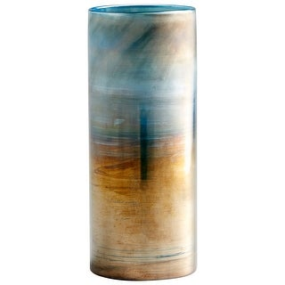 "Cyan Design 10009  Reina 5"" Diameter Glass Vase - Pyrite"