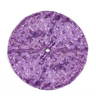 "20"" Decorative Purple Sequin Snowflake Pattern Mini Christmas Tree Skirt"