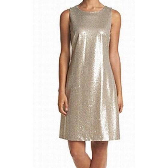 a2c25d38d4478 Tommy Hilfiger NEW Gold Champagne Women's Size 10 Sheath Sequin Dress