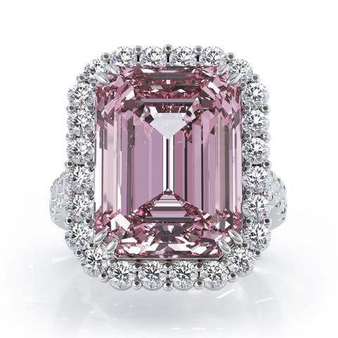 14K Gold Emerald Cut Kunzite & Diamond Ring (1.35 CT, G-H, SI2-I1) by Noray Designs