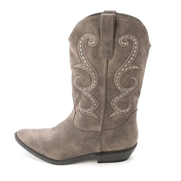 American Rag Womens DAWNN Leather Pointed Toe Mid-Calf Cowboy Boots