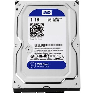 """WD WD10EZRZ WD Blue 1 TB 3.5-inch SATA 6 Gb/s 5400 RPM PC Hard Drive - SATA - 5400 - 64 MB Buffer - Blue"""