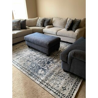 Unique Loom Hoover Chateau Rug - 9' x 12'