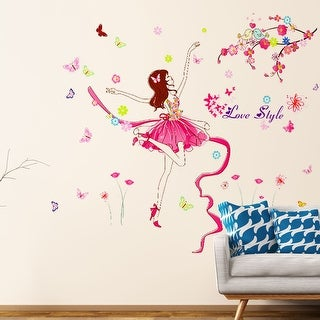 """Happy Dancing Girl Wall Stickers Home Decoration 27.5""""x19.6"""""""