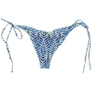 Beach Riot Womens Printed Side Tie Swim Bottom Separates - S