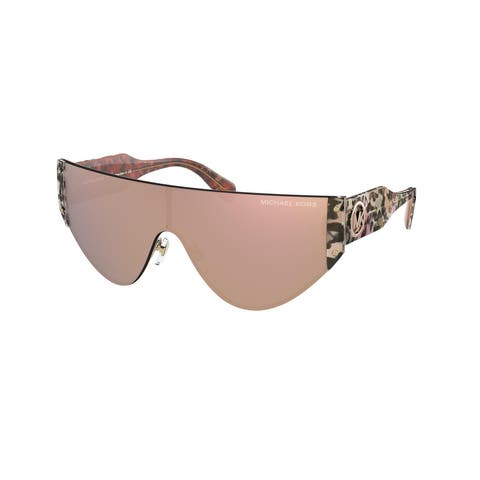 Michael Kors MK1080 11084Z 36 Rose Gold Woman Irregular Sunglasses