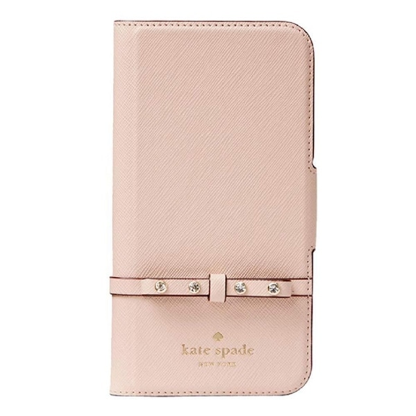 newest d231f aef37 Shop Kate Spade York Jeweled Bow Leather Wrap Folio iPhone 8 Plus ...