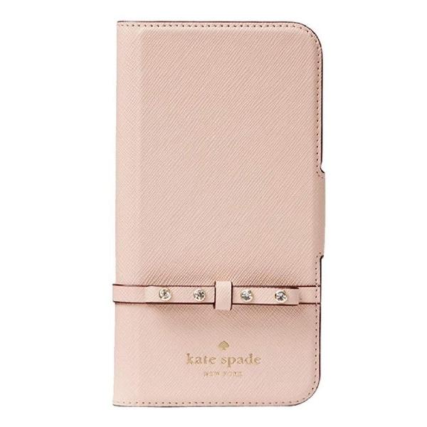 newest fc388 0d958 Shop Kate Spade York Jeweled Bow Leather Wrap Folio iPhone 8 Plus ...