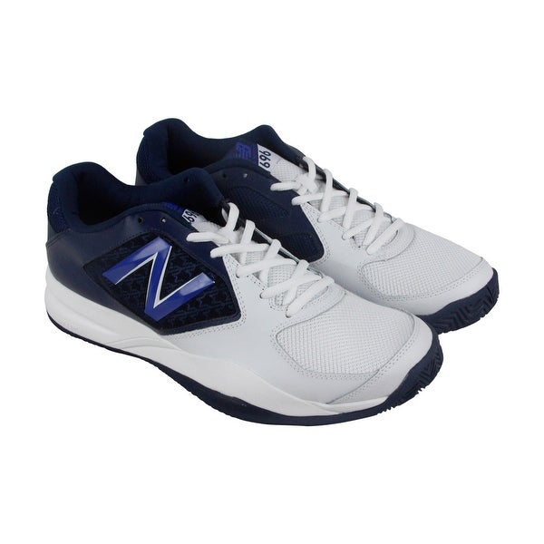 reputable site 1f811 ddb8f New Balance 696V2 Mens White Blue Synthetic  amp  Mesh Athletic Training  Shoes