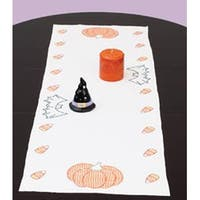 """Halloween - Stamped Table Runner/Scarf 15""""X42"""""""