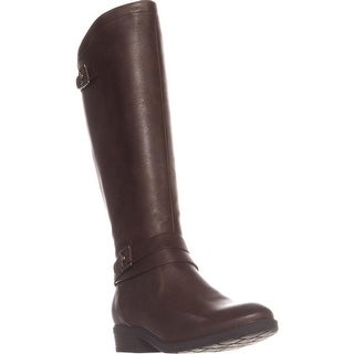 BareTraps Yalina Flat Riding Boots, Dark Brown