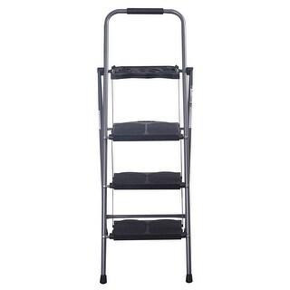 Costway New HD 3 Step Ladder Platform Folding Stool 330 LBS Capacity Space Saving w/Tray