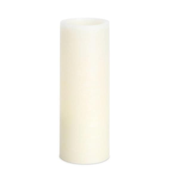 """Pack of 4 Elegant and Soothing White Flameless LED Pillar Candles 8"""""""