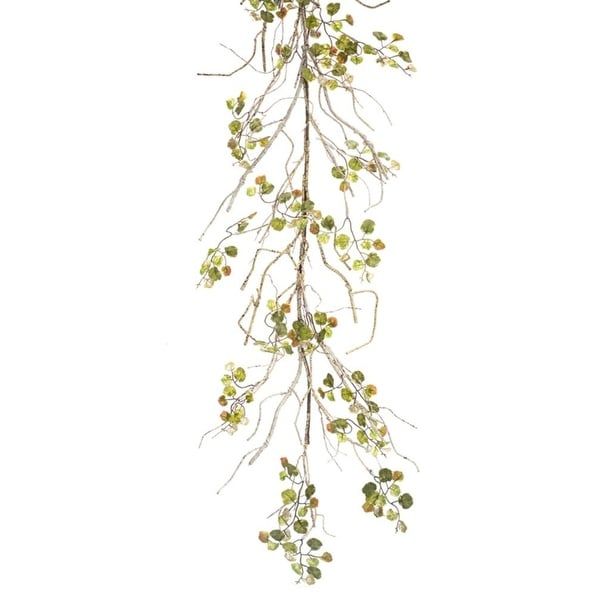 "Pack of 4 Artificial Birch Foliage Hanging Spring Garland 65"" - Unlit - brown"