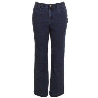 Charter Club Greenwich Wash Tummy-Control Straight-Leg Denim Trouser - 8