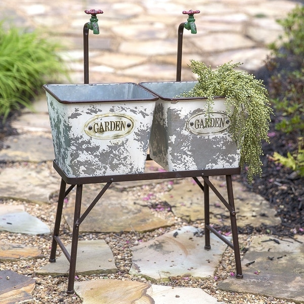 Garden Faucet Flower Bins with Stand