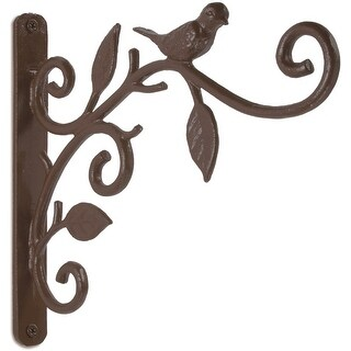 "Panacea 85627 Bird Plant Bracket, 9"", Dark Bronze"