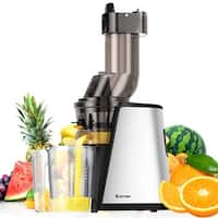 Costway Slow Masticating Juicer Cold Press Extractor Stainless Steel Wide Chute w/ Brush