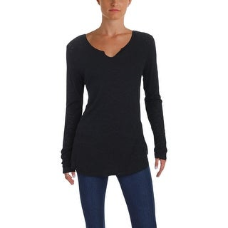 Michelle by Comune Womens Blouse V-Neck Long Sleeves