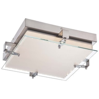 Kovacs P1121-084-L 1 Light LED Flush Mount Ceiling Fixture from the Cuff Link Collection