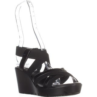 Charles by Charles David Vote Wedge Sandals, Black
