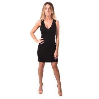 Versace Jeans Women Jersey Magnific Dress Black