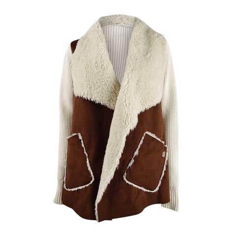 Tommy Hilfiger Women's Faux-Shearling Jacket (XS, Camel) - XS