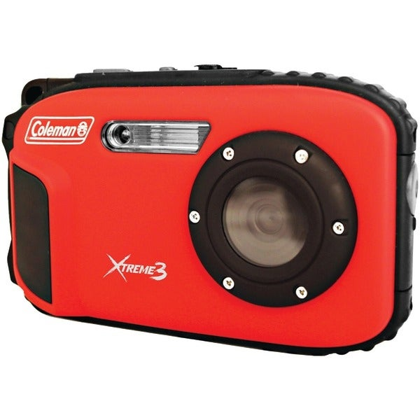 COLEMAN C9WP-R 20.0-Megapixel Xtreme3 HD Video Waterproof Digital Camera (Red)