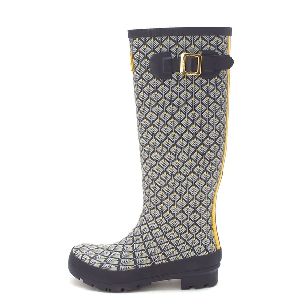 Wellyprint Joules Shop Rubber Womens High Toe Knee Closed SGzqVUpM
