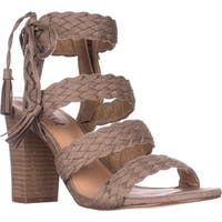 XOXO Binnie Heeled Strappy Sandals, Taupe