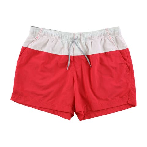 Columbia Womens Colorblocked Casual Walking Shorts, red, Small