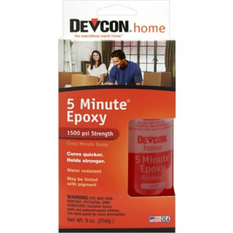 Devcon 20945 5-Minute Fast Drying Epoxy, Clear, 9 Oz