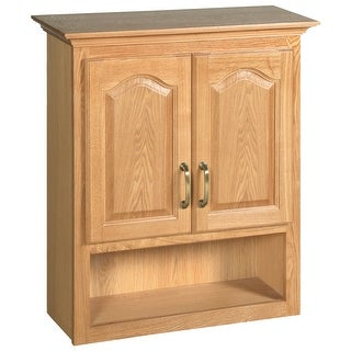 Design House 552844  Double Door Bath Cabinet with Shelf from the Richland Collection - Oak