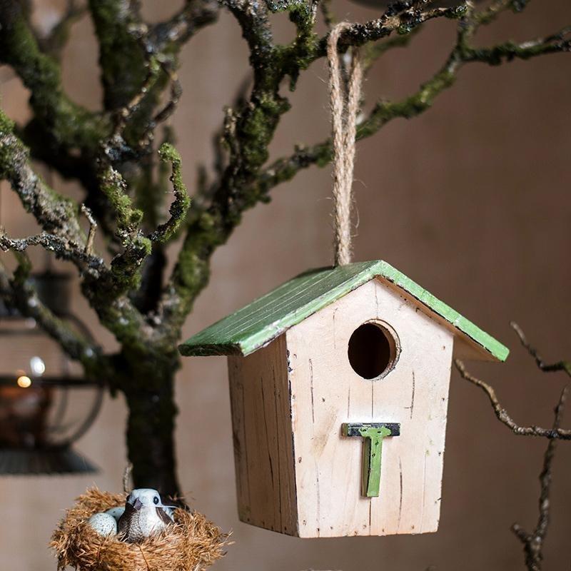 RusticReach Wood Craft Birds House Ornament (Style [C])